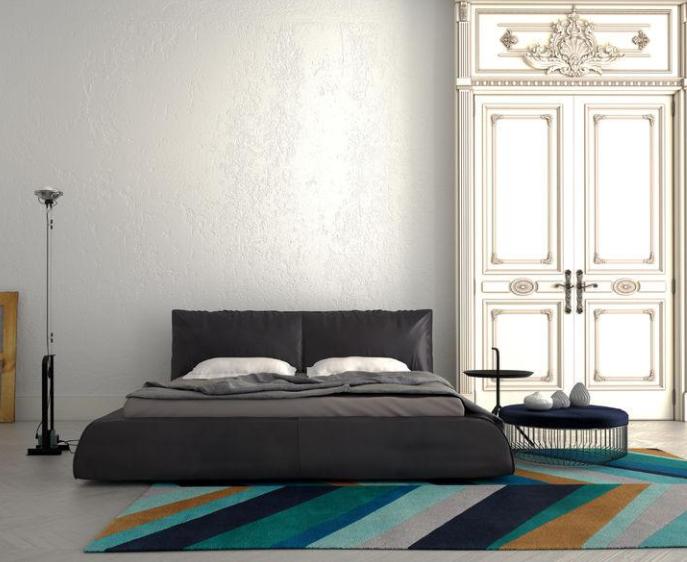 Dekorasi Kamar Tidur Kasur di Lantai Unik
