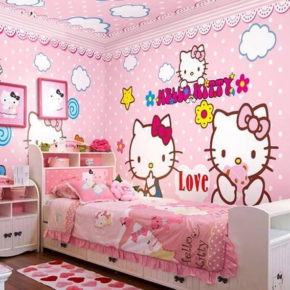 Contoh Dekor Kamar Hello Kitty 1