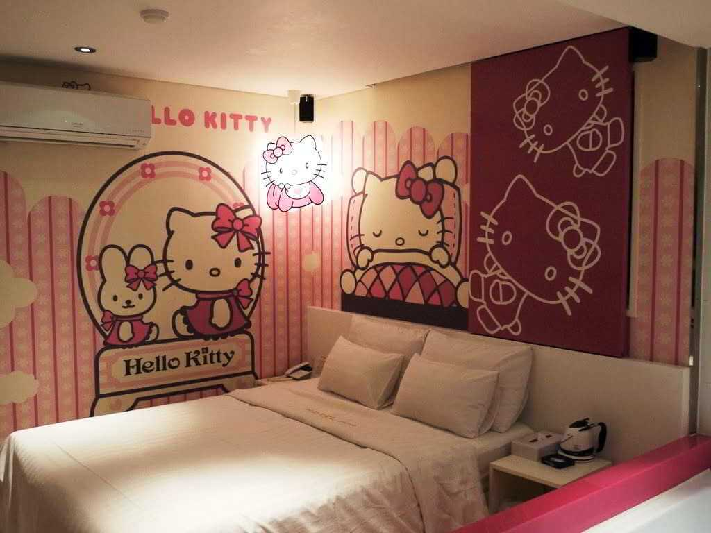 Dekorasi Kamar Tidur Hello Kitty Unik