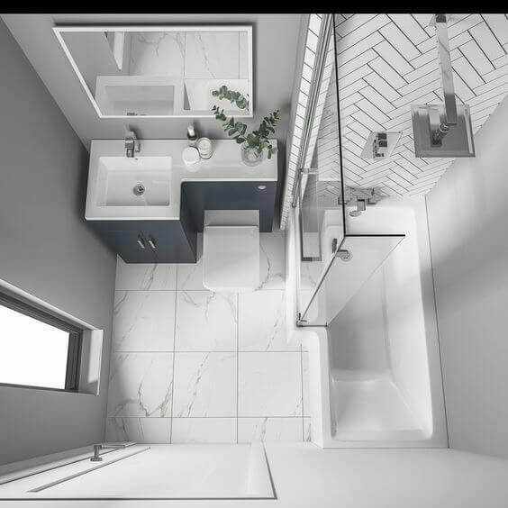 Desain Kamar Mandi Minimalis 1x1 Meter