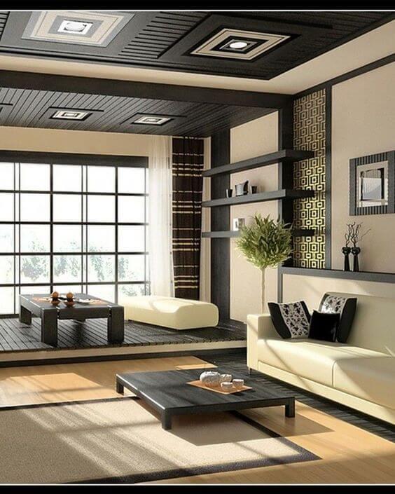 Model Desain Ruang Tamu Lesehan