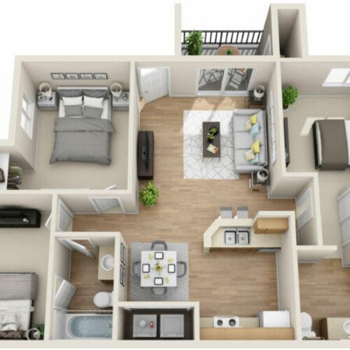11 Desain Rumah Ukuran 6×9 3 Kamar Tidur Modern Unik