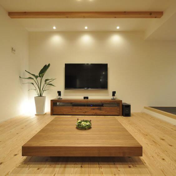 Desain Ruang Tamu Lesehan Modern