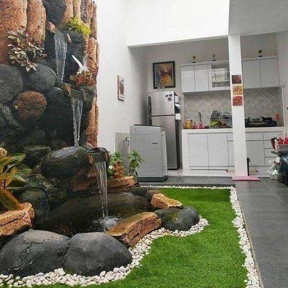 Desain Dapur Minimalis Terbuka Unik Outdoor