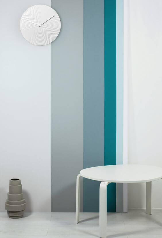 Teknik Cara Mengecat Tembok Motif Garis
