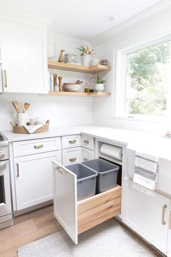 Tempat Sampah Dapur Minimalis yang Unik
