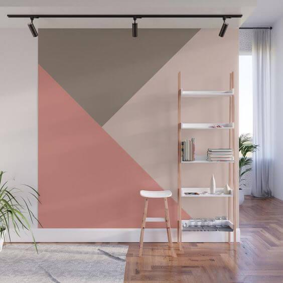 Contoh Tembok Dinding Motif Geometris Unik dan Keren