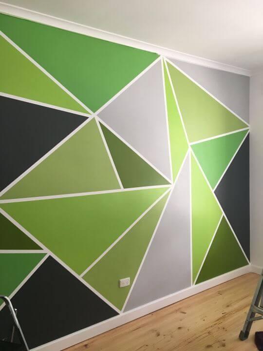 Cara Mengecat Tembok Geometris