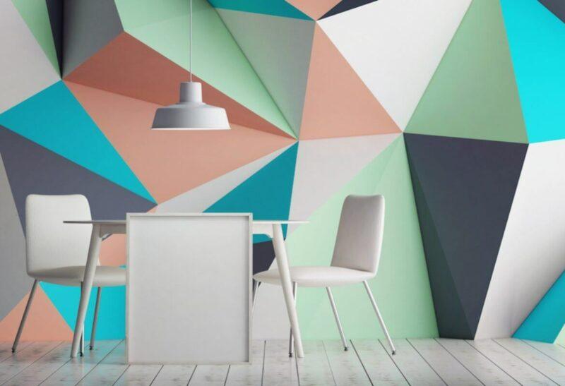 Contoh dan Cara Mengecat Tembok Geometris Keren da Unik