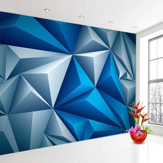 Cara Mengecat Tembok Motif Unik Geometris