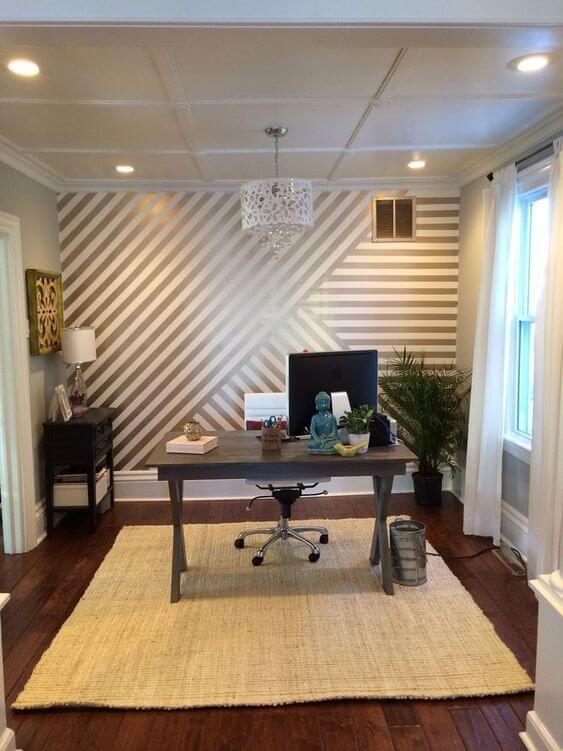 3 Cara Mudah Mengecat Tembok Dinding Motif Garis dengan Selotip Kertas