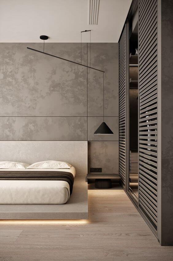 Gambar Model Desain Kamar Tidur Minimalis Mewah Kekinian