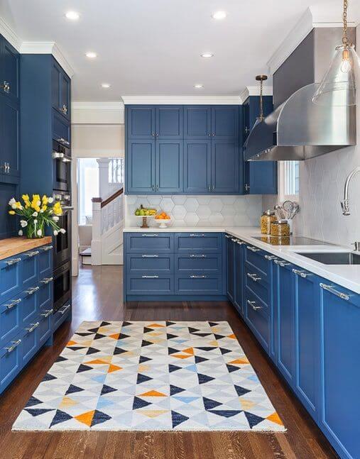 Dapur Minimalis Warna Cat Tembok Biru
