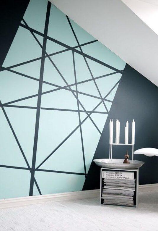 Cara Membuat Tembok Dinding Motif Geometris Unik dan Menarik