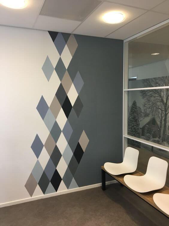 Keren dan Unik Desain Cat Tembok Motif Geometris