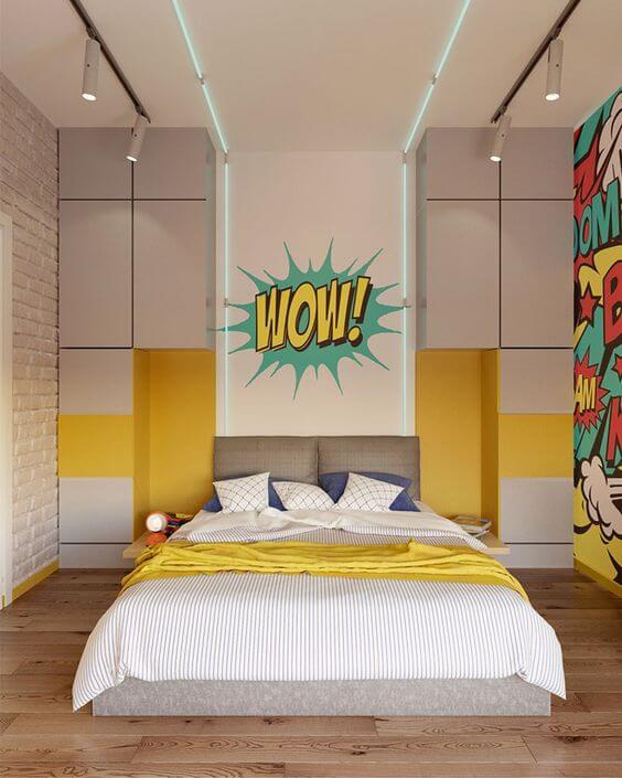 Desain Kamar Tidur Minimalis Ukuran 3x4 Menggunakan Kasur Lantai