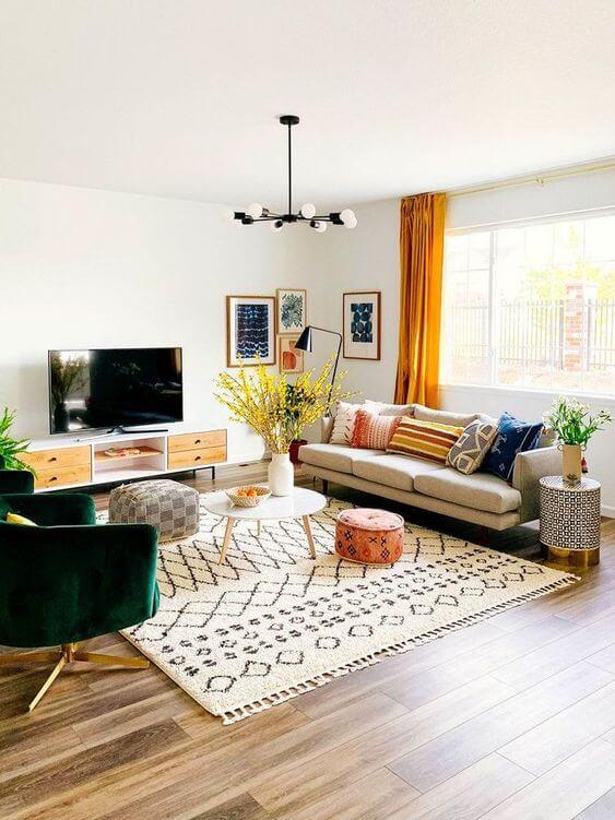 Desain dan Dekorasi Ruang Keluarga Sederhana Menarik