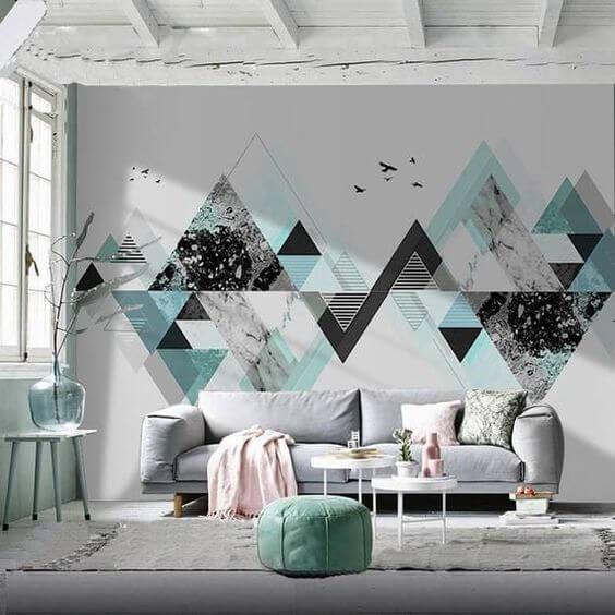 Inspirasi Cat Tembok Dinding Motif Unik Geometris yang Menarik