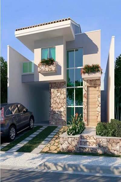 Desain Rumah Minimalis Sederhana Keren Tampak Depan