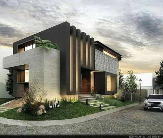 Contoh Model Desain Rumah Minimalis Unik Elegan