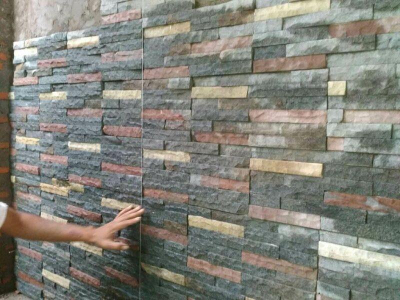 Contoh Motif Batu Alam Andesit untuk Tiang Teras