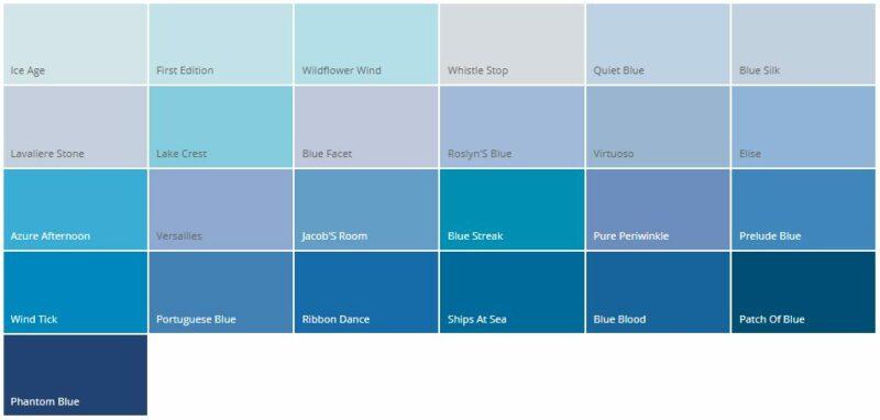Variasi Warna Cat Rumah Minimalis Dulux Biru