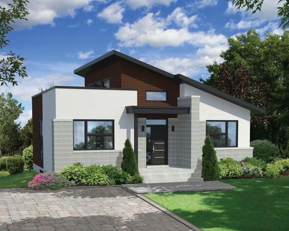 Contoh Model Desain Rumah Minimalis Sederhana Keren Tampak Depan
