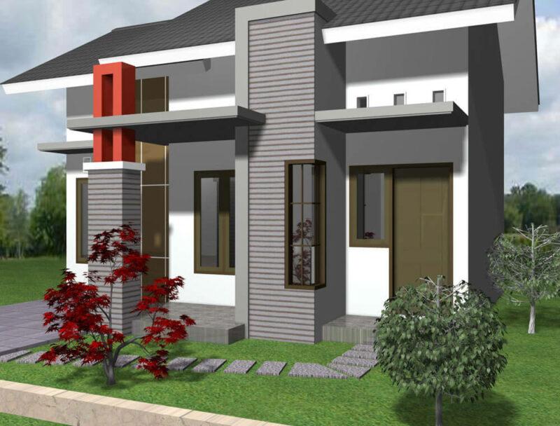 Desain Warna Cat Rumah Minimalis Modern Kekinian bagian Luar