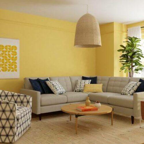 25 + Contoh Terbaik Warna Cat Ruang Tamu agar Terlihat Luas