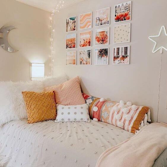 Dekor kamar tidur sederhana gambar dinding