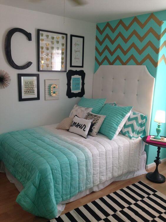 Dekor kamar tidur sederhana hijau 3