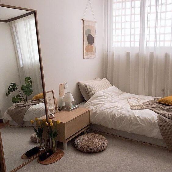Dekor kamar tidur sederhana hitam korean