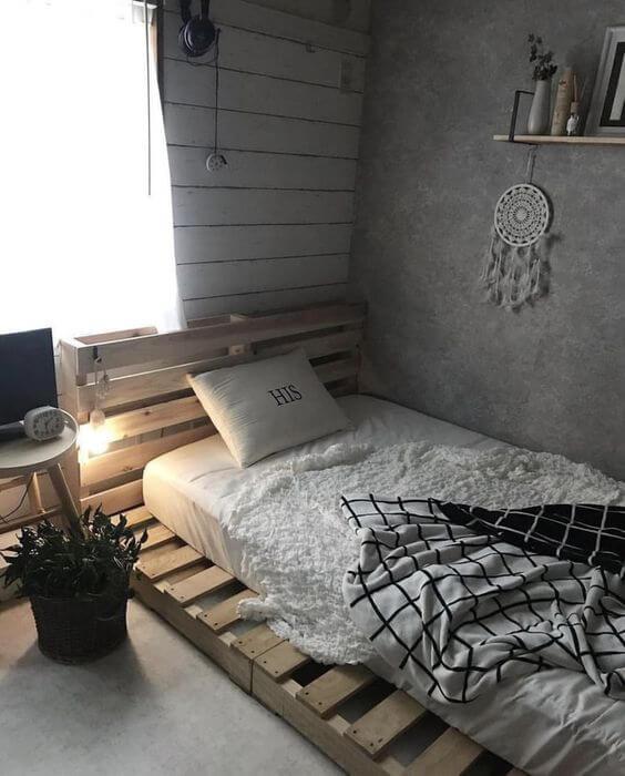 Dekor kamar tidur sederhana unik kayu