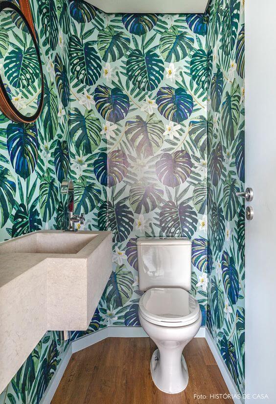 Dekorasi Kamar Mandi Dengan Wallpaper