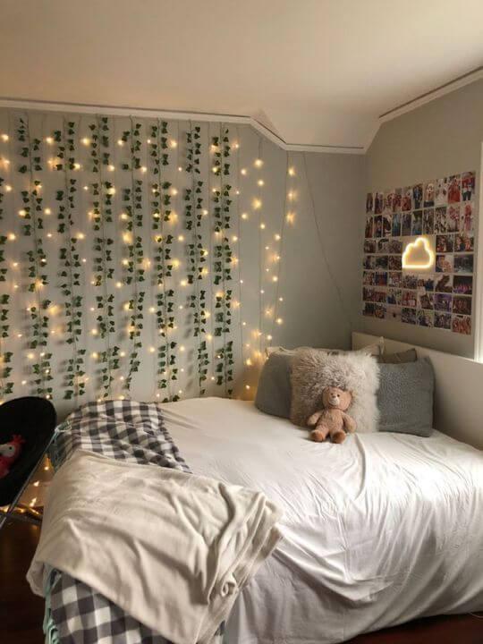 Dekorasi Kamar Tidur Minimalis 3x4 lampu hias
