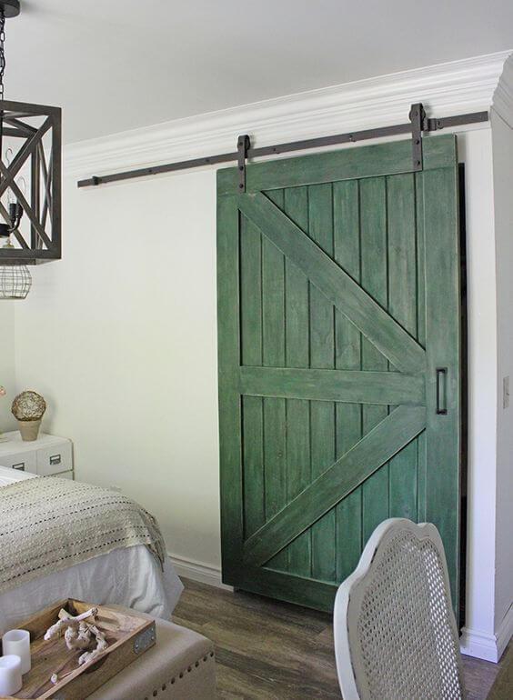 Dekorasi Kamar Tidur Minimalis 3x4 pintu geser