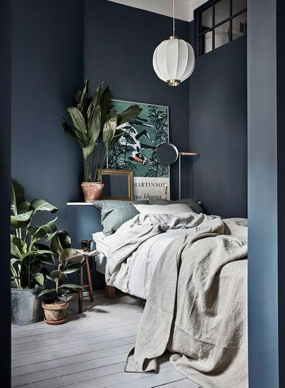Dekorasi Kamar Tidur Minimalis biru 1