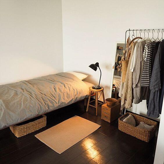 Dekorasi Kamar Tidur Minimalis gantung baju