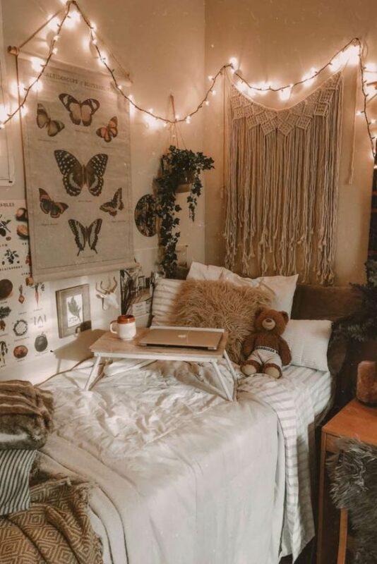 Dekorasi Kamar Tidur Sempit Remaja lampu