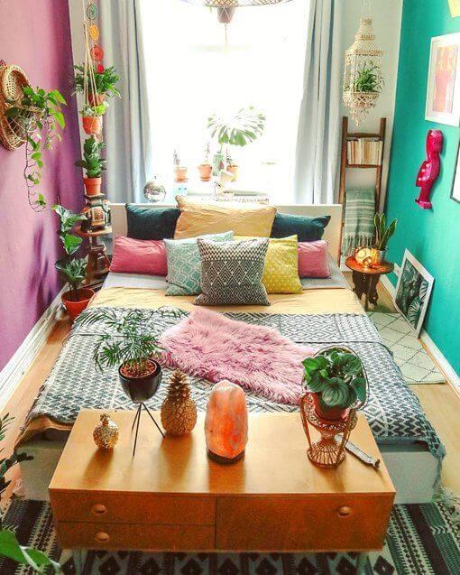 Kamar sempit Sederhana berwarna