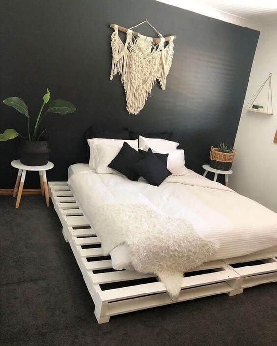 Kamar sempit Sederhana kayu palet