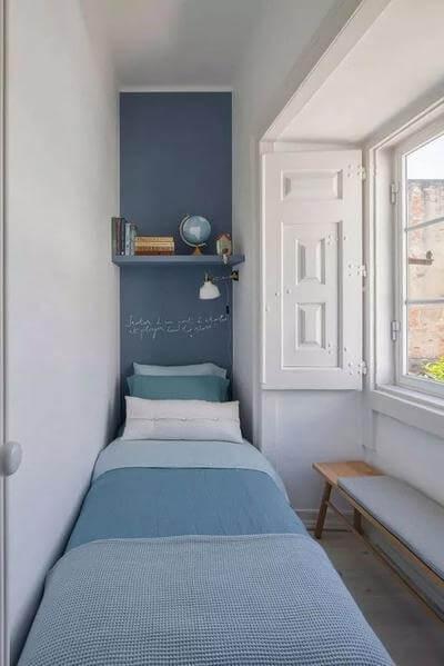 Kamar sempit Sederhana kombinasi warna