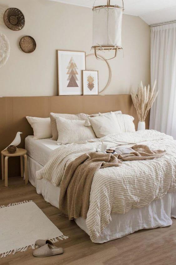 Warna Kamar Tidur Yang Menenangkan megah Beige