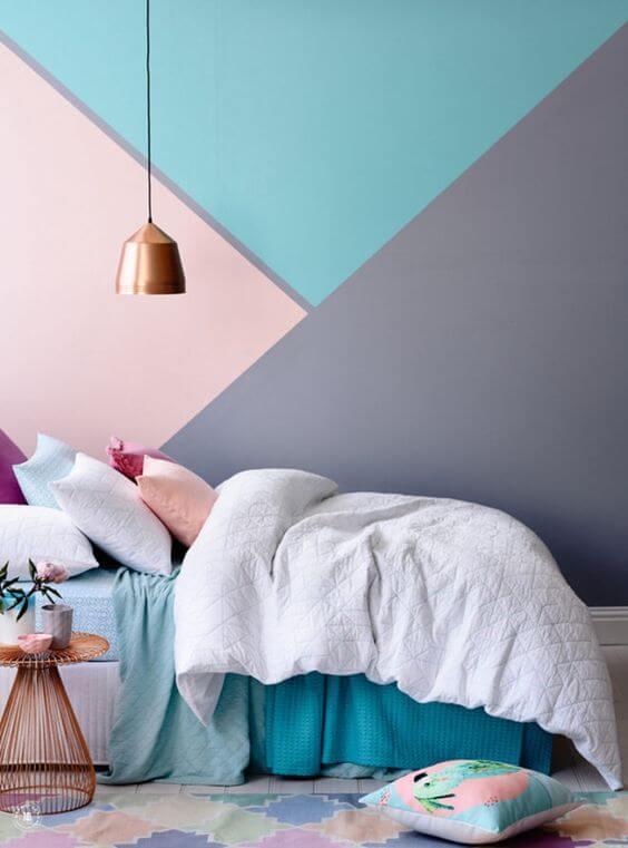 Warna Kamar Tidur Yang Menenangkan unik geometri