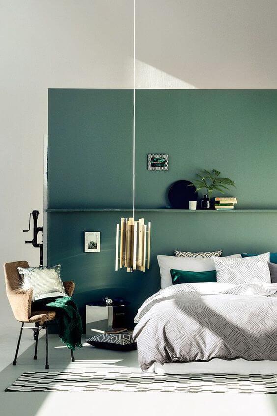Warna Kamar Tidur Yang Menenangkan unik hijau