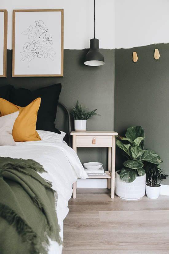 Warna Kamar Tidur Yang kombinasi abu-putih