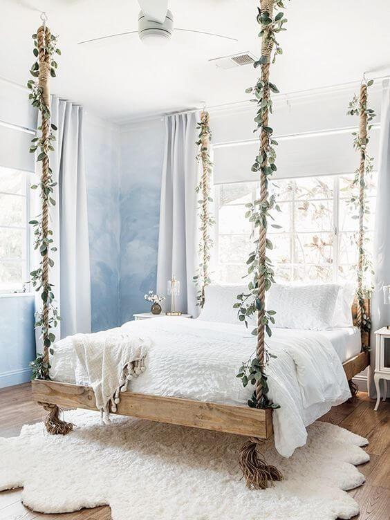 Warna cat kamar tidur romantis Unik awan