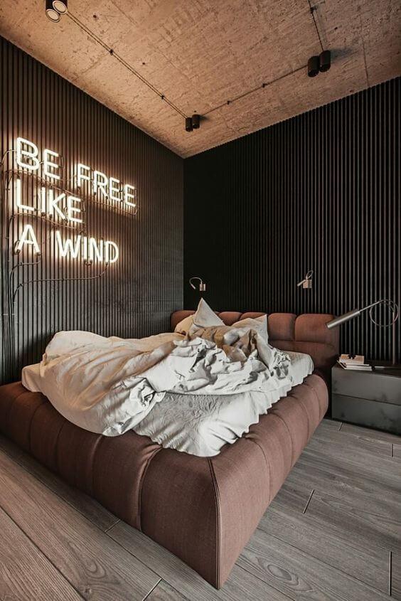 Warna cat kamar tidur romantis kekinian warna gelap