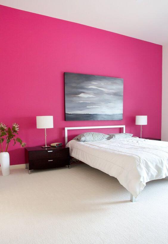 Warna cat kamar tidur romantis pink