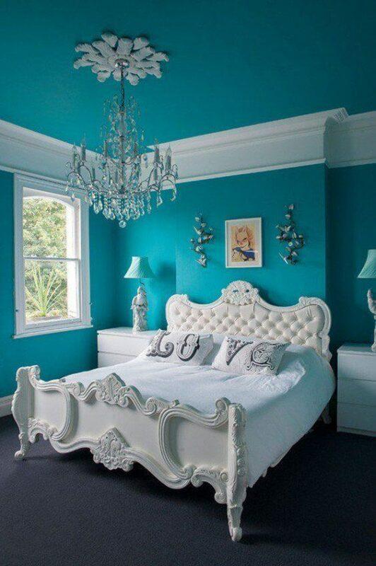 Warna cat kamar tidur romantis tosca